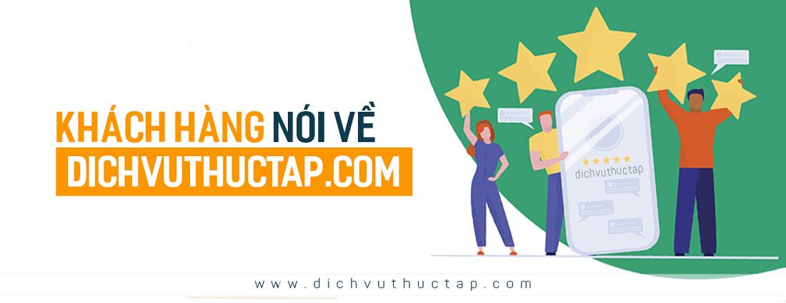 khachhang feedback dichvuthuctap - Khách hàng chia sẻ